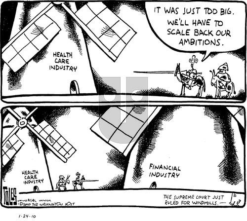 Tom Toles on Sunday January 24, 2010 Comic Strip