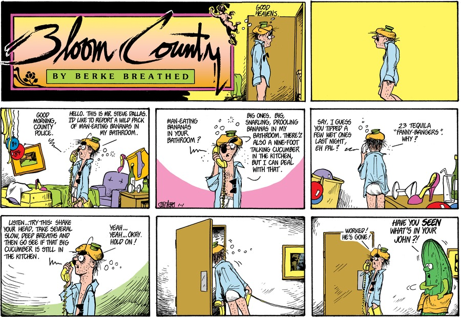 Bloom County Comic Strip for January 01, 1984