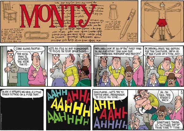 Monty on Sunday March 15, 2015 Comic Strip