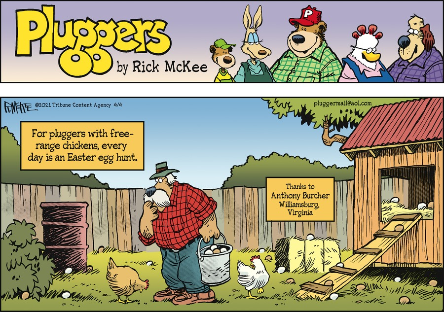 Pluggers Comic Strip for April 04, 2021