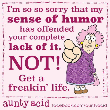 Aunty Acid Comic Strip for October 24, 2019
