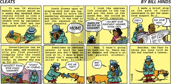 Cleats on Sunday May 4, 2003 Comic Strip