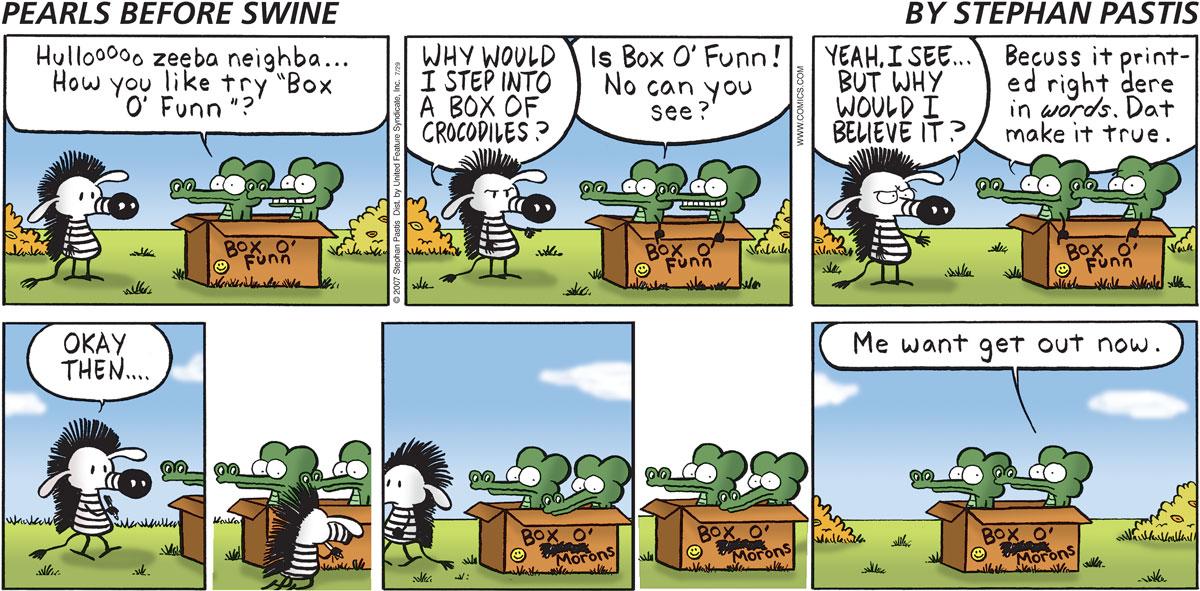 Pearls Before Swine Comic Strip for July 29, 2007