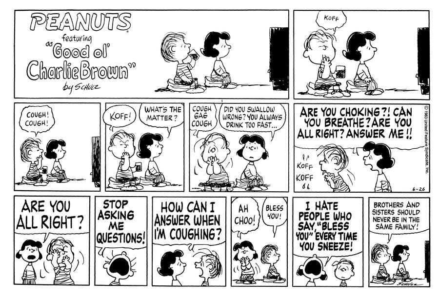 Peanuts Comic Strip for June 26, 1983