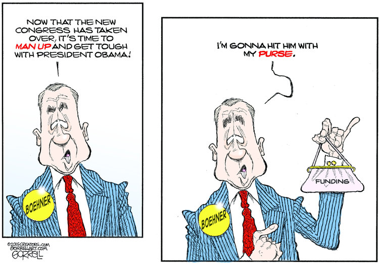 Bob Gorrell Comic Strip for January 14, 2015