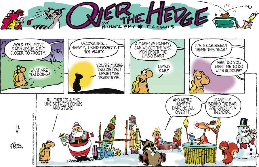 Over the Hedge Comic Strip for December 09, 2012