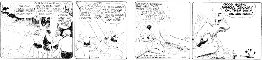 Alley Oop Comic Strip for January 11, 1939