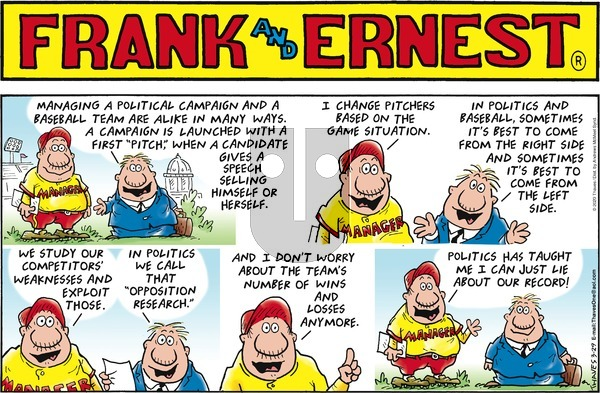 Frank and Ernest on Sunday March 29, 2020 Comic Strip