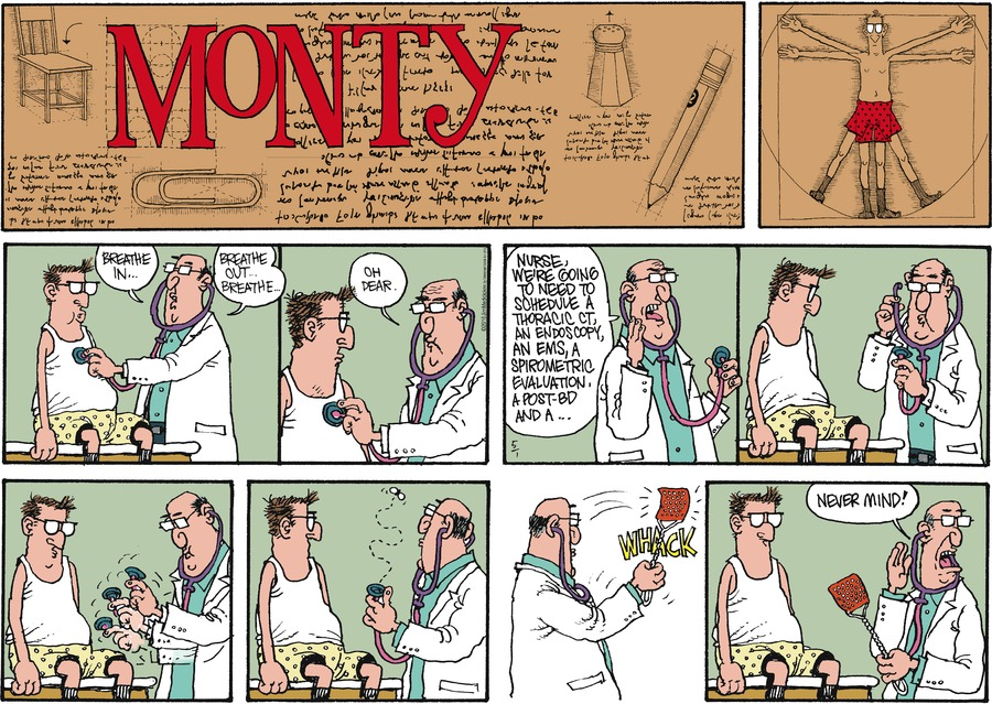Monty for May 1, 2016 Comic Strip