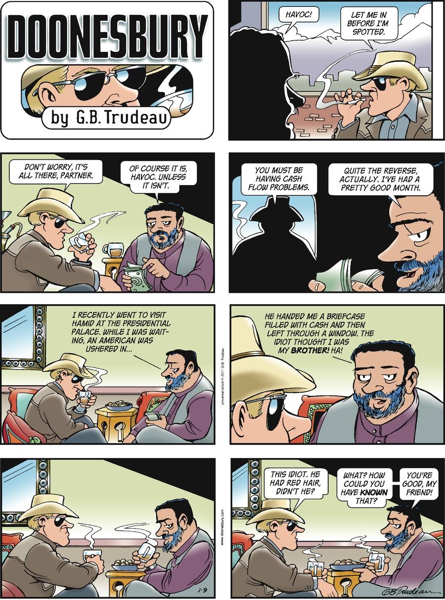 Doonesbury Comic Strip for January 09, 2011