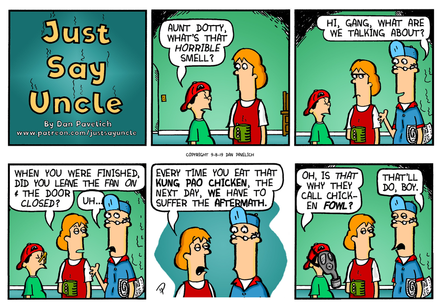 Just Say Uncle Comic Strip for September 08, 2019