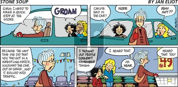 Stone Soup on Sunday March 25, 2018 Comic Strip