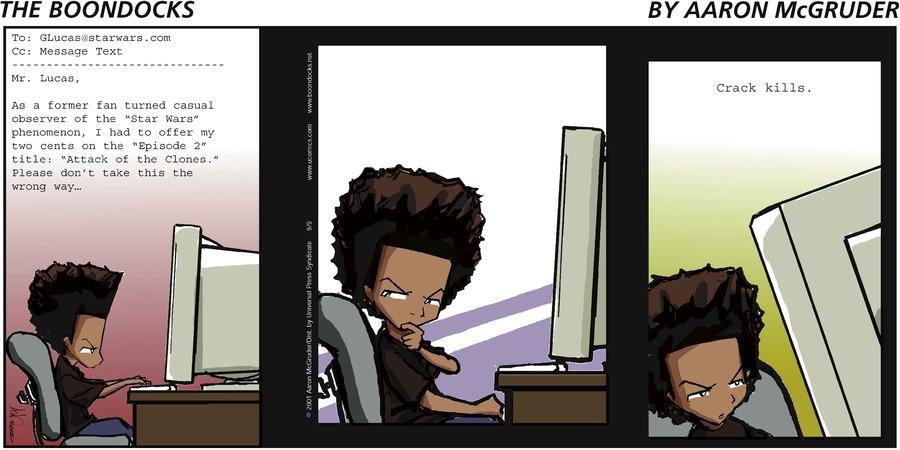 The Boondocks Comic Strip for September 09, 2001