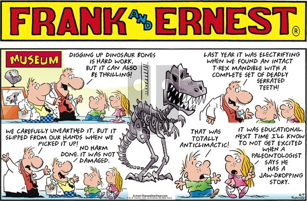 Frank and Ernest on Sunday June 9, 2019 Comic Strip