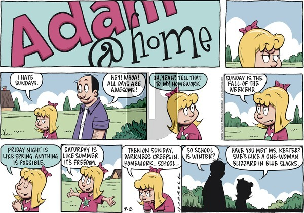Adam@Home on Sunday September 8, 2019 Comic Strip