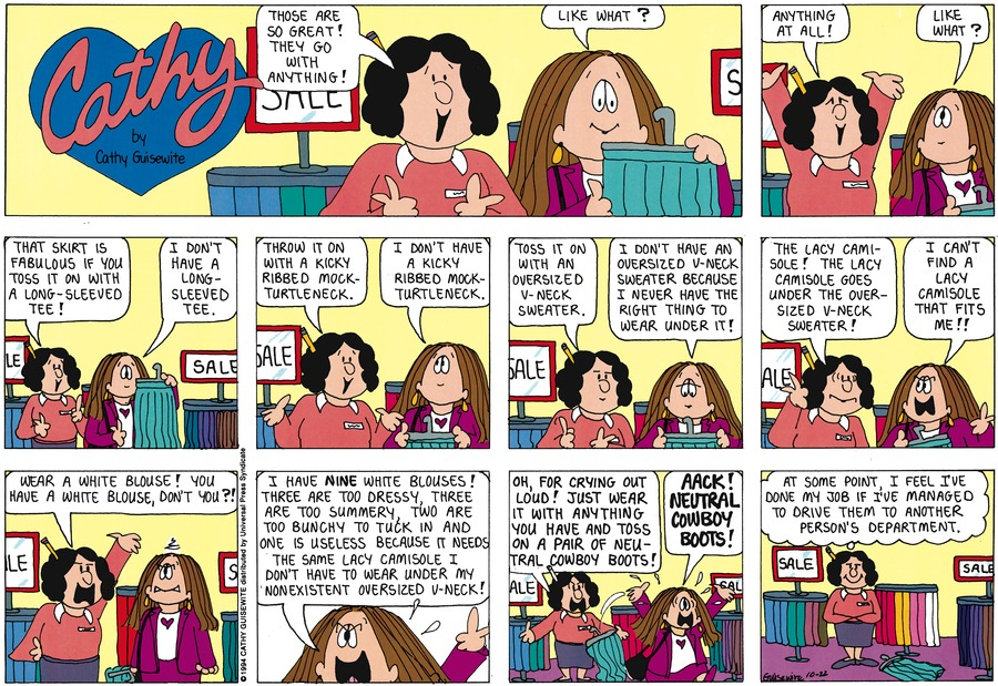 Cathy for Oct 23, 2011 Comic Strip