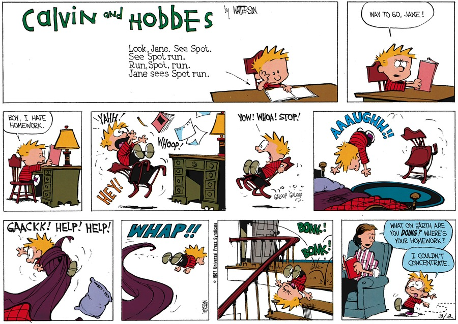 Calvin and Hobbes for Apr 5, 1987 Comic Strip