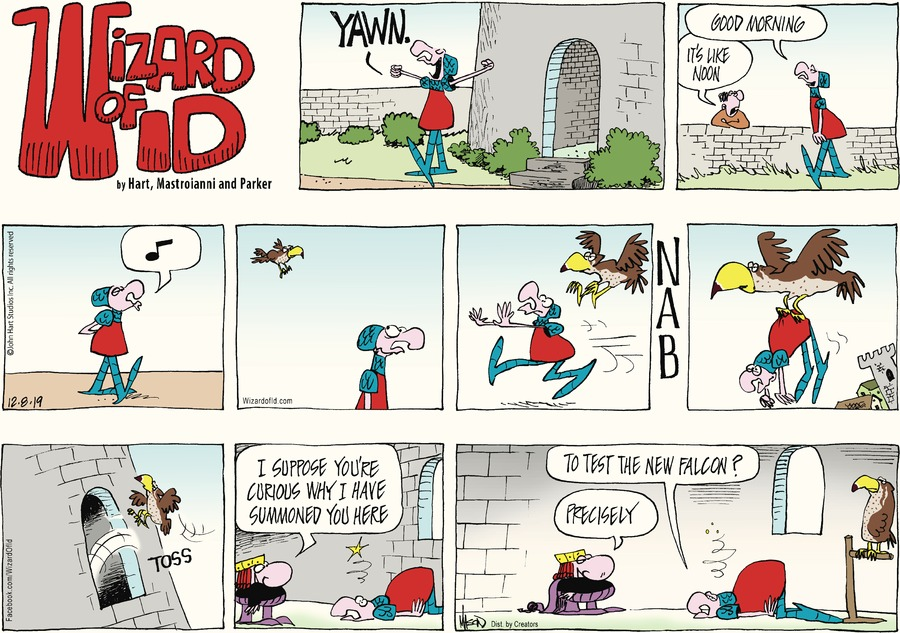 Wizard of Id Comic Strip for December 08, 2019