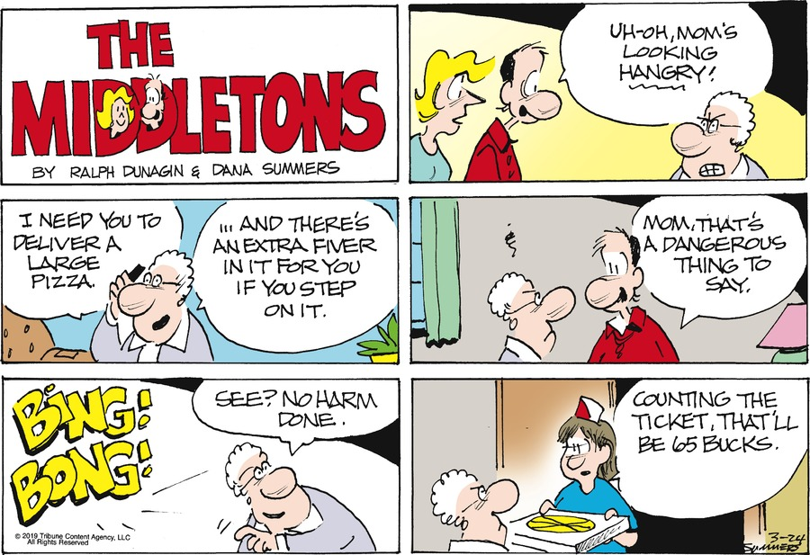 The Middletons Comic Strip for March 24, 2019