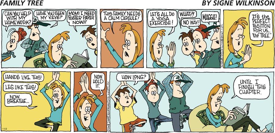 Family Tree Comic Strip for November 02, 2008