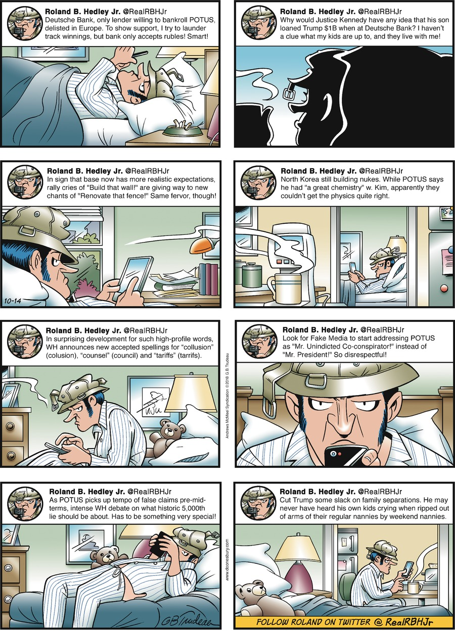 Doonesbury Comic Strip for October 14, 2018