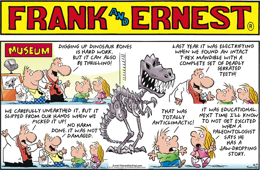 Frank and Ernest Comic Strip for June 09, 2019