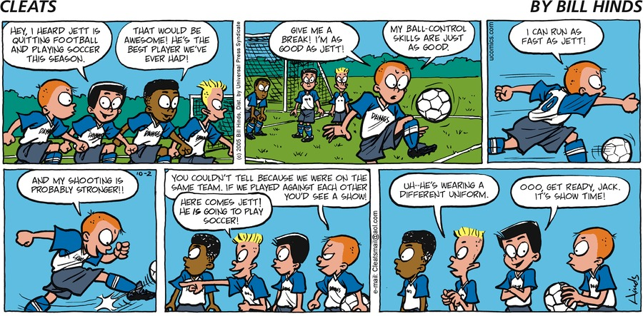 Cleats Comic Strip for October 02, 2005