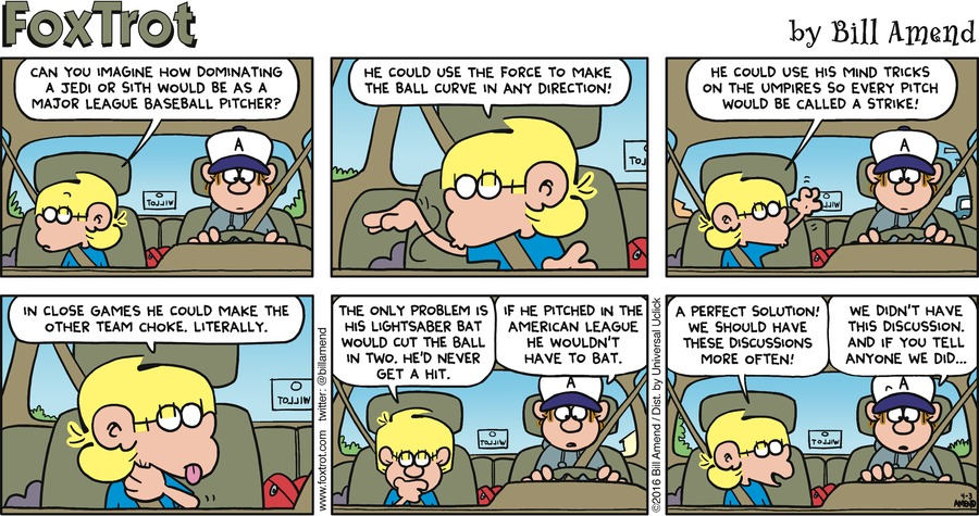 FoxTrot Comic Strip for April 03, 2016