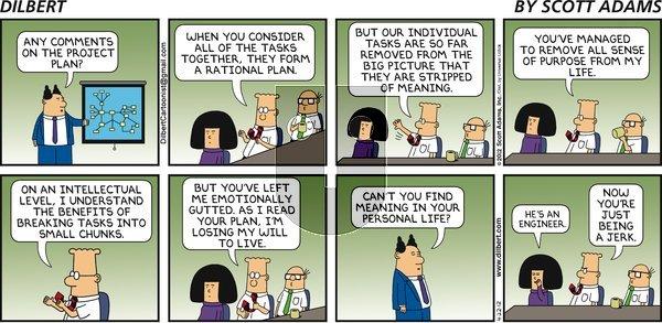 Dilbert on Sunday April 22, 2012 Comic Strip