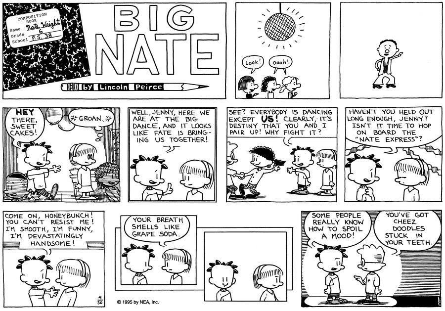 Big Nate Comic Strip for April 30, 1995