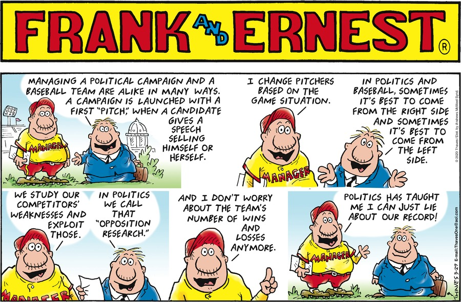 Frank and Ernest Comic Strip for March 29, 2020