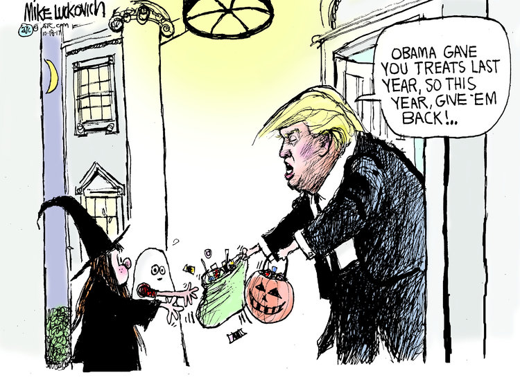 Mike Luckovich for Oct 18, 2017 Comic Strip
