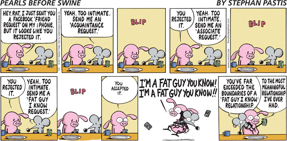 Pearls Before Swine Comic Strip for January 23, 2011