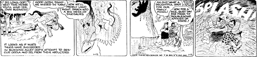 Alley Oop Comic Strip for January 12, 1939