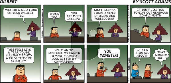 Dilbert on Sunday February 21, 2021 Comic Strip
