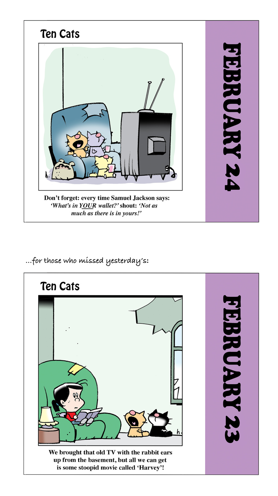 Ten Cats Comic Strip for February 24, 2021