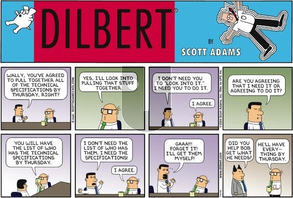 Dilbert on Sunday July 16, 2006 Comic Strip