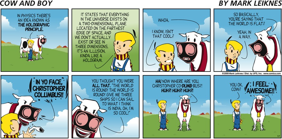 Cow and Boy Classics Comic Strip for November 21, 2015