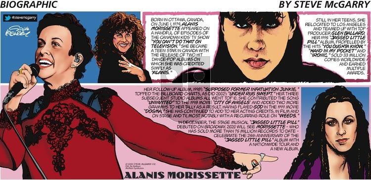 Biographic on Sunday January 12, 2020 Comic Strip