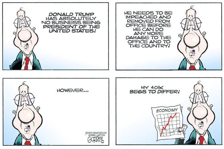 Bob Gorrell Comic Strip for January 14, 2020