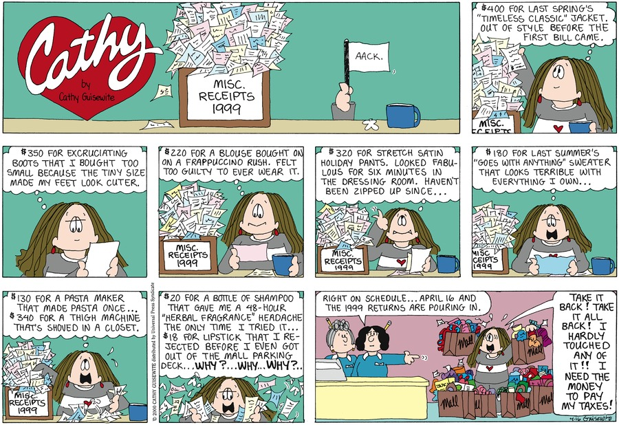 Cathy for Apr 17, 2011 Comic Strip
