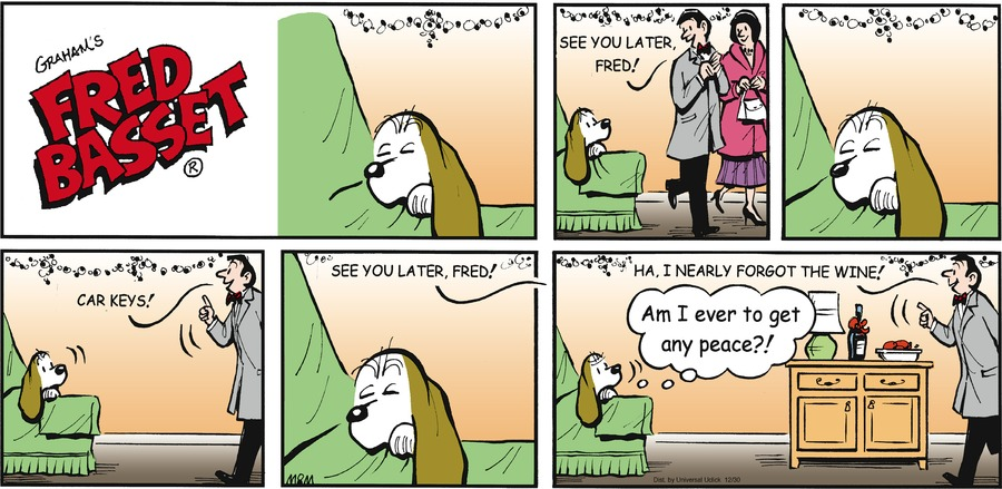 Fred Basset for Dec 30, 2012 Comic Strip