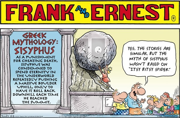 Frank and Ernest on Sunday December 8, 2019 Comic Strip