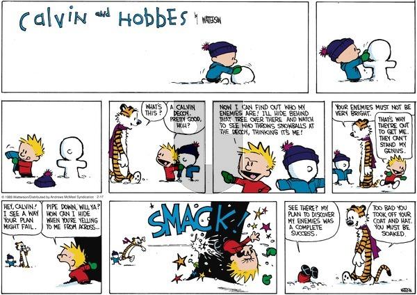 Calvin and Hobbes on Sunday February 17, 2019 Comic Strip