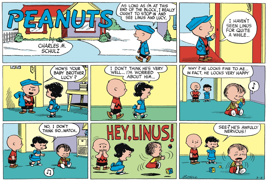 Peanuts Begins Comic Strip for March 06, 2021