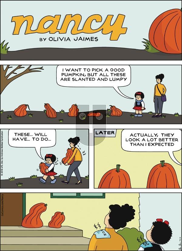Nancy on October 21, 2018 Comic Strip