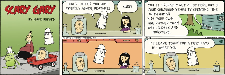 Scary Gary for Aug 25, 2013 Comic Strip