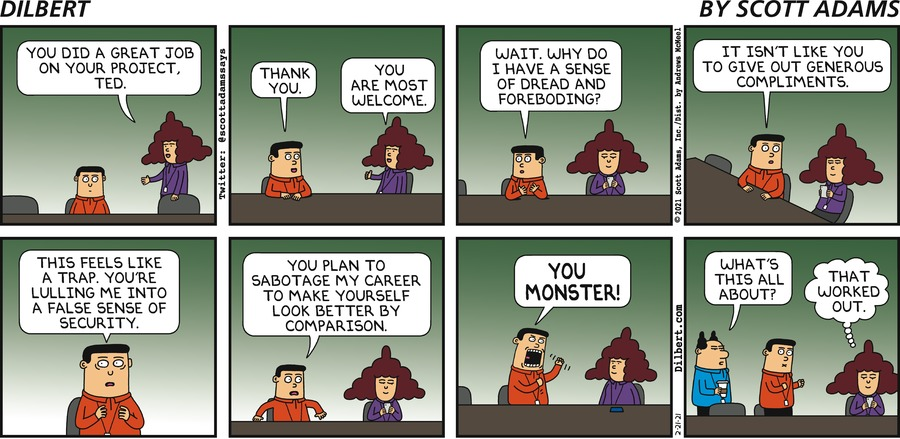 Alice Compliments Ted - Dilbert by Scott Adams