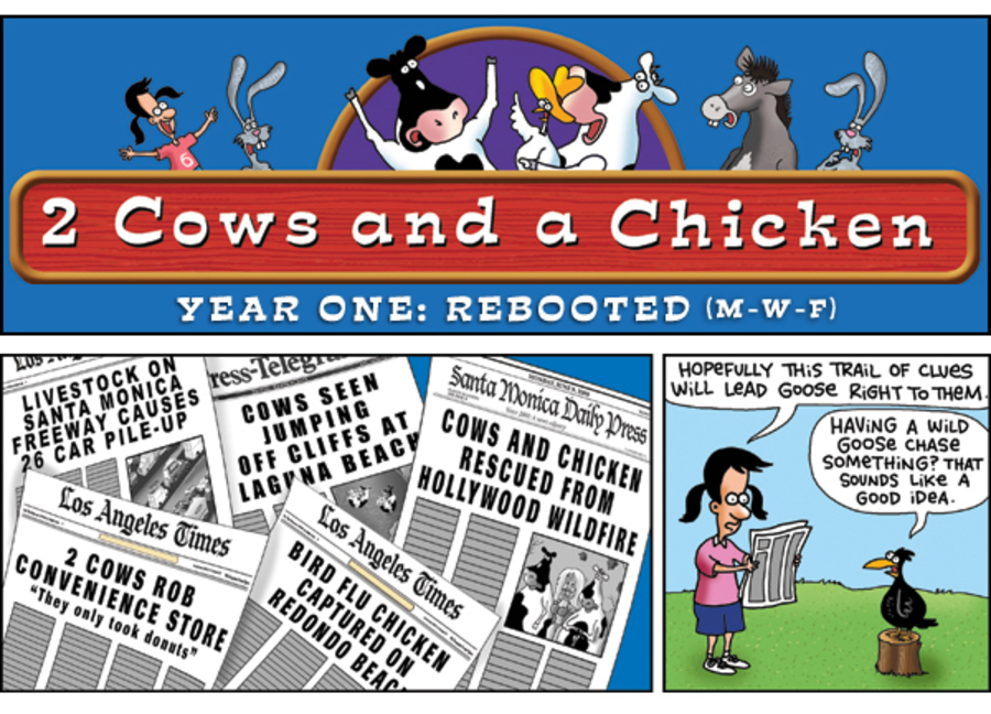 2 Cows and a Chicken for Oct 1, 2012 Comic Strip