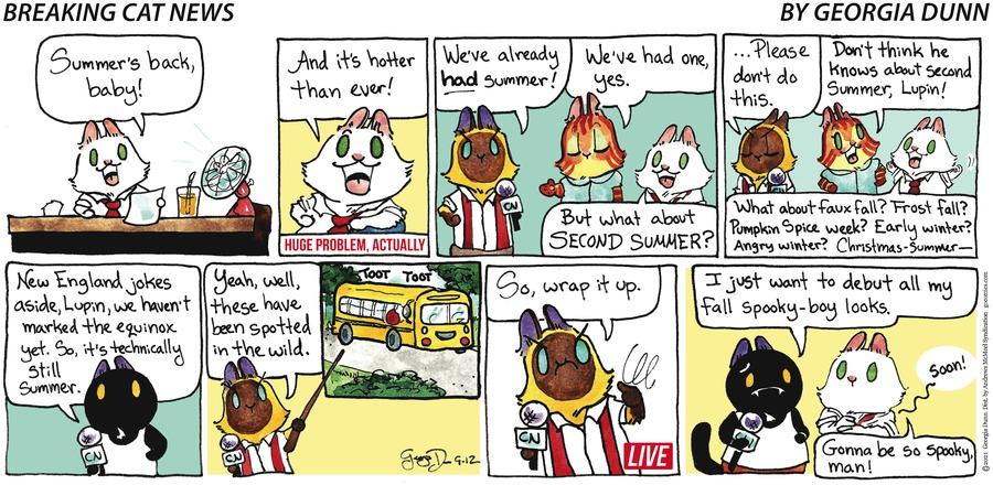 Breaking Cat News Comic Strip for September 12, 2021